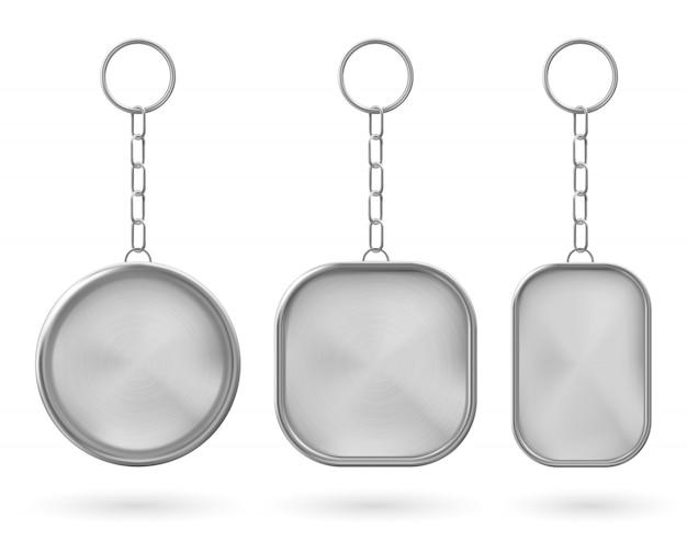 Porte-clés en métal, support pour clé avec chaîne
