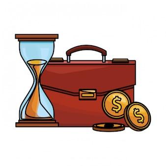 Porte-documents finance icône