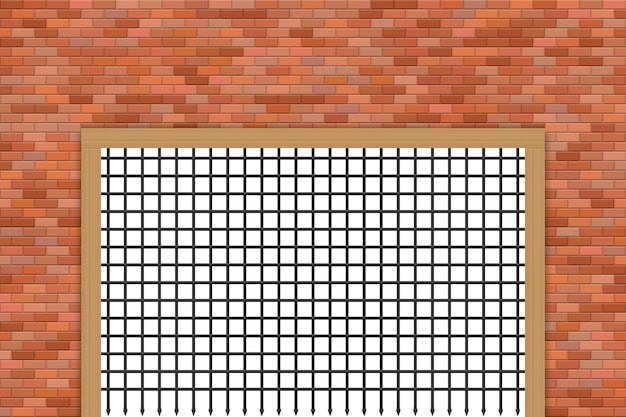 Porte du château médiéval et illustration de mur de brique