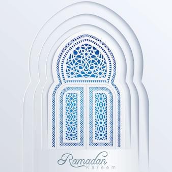 Porte du fond arabe de la mosquée ramadan kareem