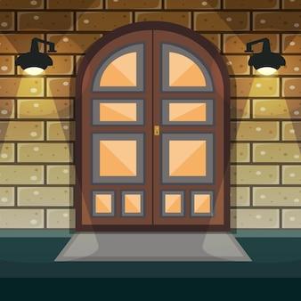 Porte d'entrée à la maison