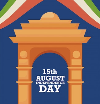Porte de l'inde, fête de l'indépendance du 15 août