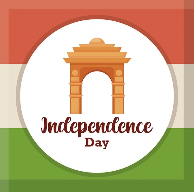 Porte de l'inde, jour de l'indépendance indienne