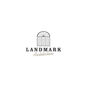 Porte logo vintage, architecture vintage