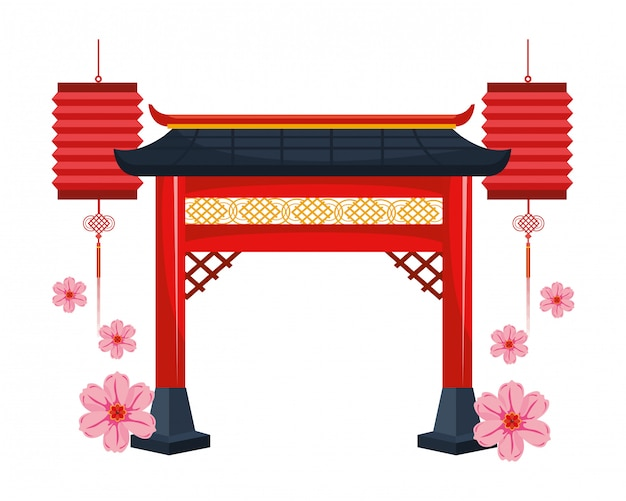 Porte rouge chinoise