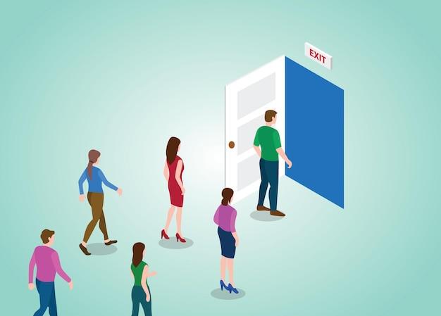 Porte de sortie pour les personnes