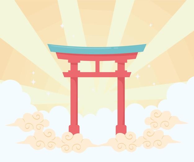 Porte torii traditionnelle