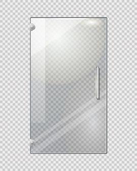 Porte transparente isolée