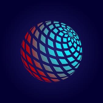 Portée 3d abstraite avec losange.