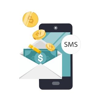 Portefeuille mobile et envoyer de l'argent en ligne