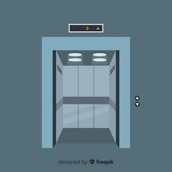 Portes d'ascenseur ouvertes