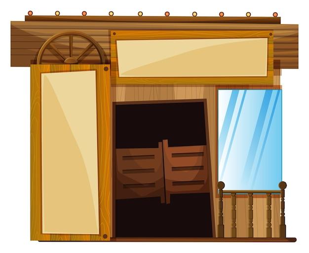 Portes sur le bâtiment dans le style occidental