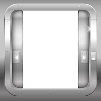 Portes doubles ouvertes en métal