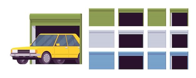 Portes de garage, ensemble de système de rouleau métallique