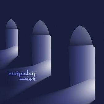 Portes masjid avec saint fond lumière ramadan