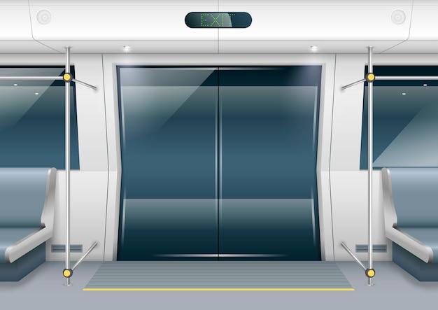 Portes de voiture de métro