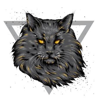Portrait d'un beau chat.