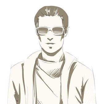 Portrait de beau jeune homme