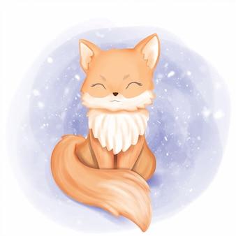 Portrait de bébé renard sourire