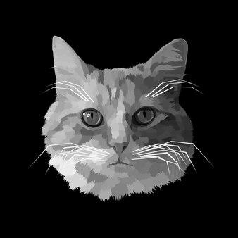 Portrait de chat premium