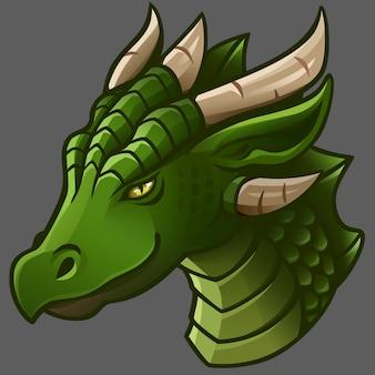 Portrait de dragon vert