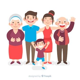 Portrait de famille dessiné à la main