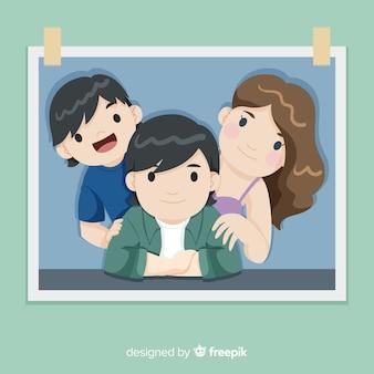 Portrait de famille dessiné main