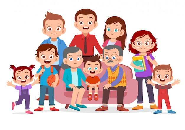 Portrait de famille ensemble