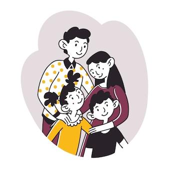 Portrait de famille heureux