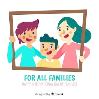 Portrait de famille journée internationale des familles