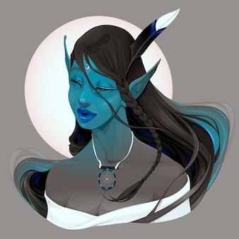 Portrait d'une fée appelée maya