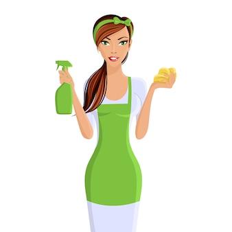 Portrait de femme de ménage