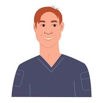 Portrait d'un garçon adolescent souriant heureux avatar de personnage masculin drôle d'adolescent élégant plat vectoriel