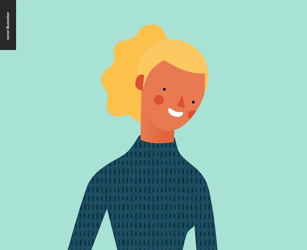 Portrait de gens brillants - jeune femme