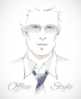 Portrait d'homme d'affaires élégant