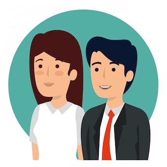 Portrait d'homme d'affaires et femme d'affaires