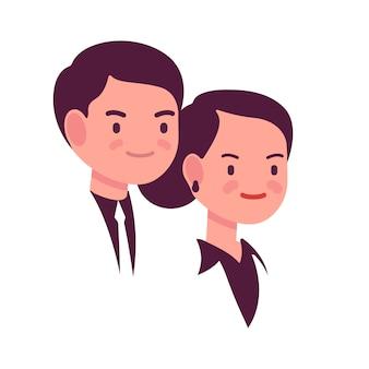 Portrait homme et femme