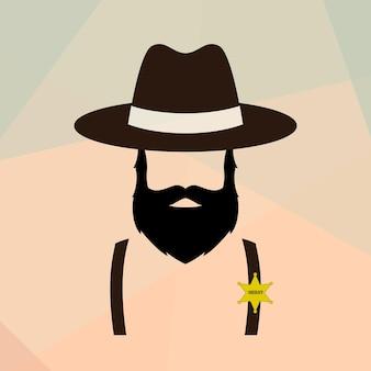 Portrait d'homme shérif
