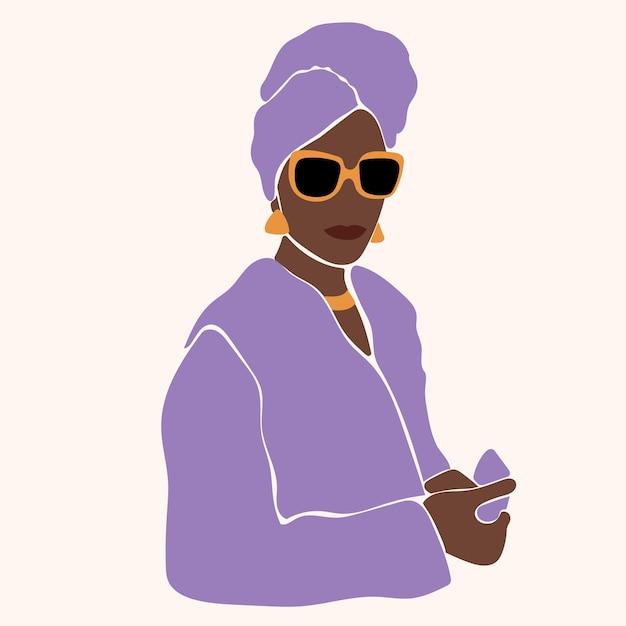 Portrait de jeune femme africaine