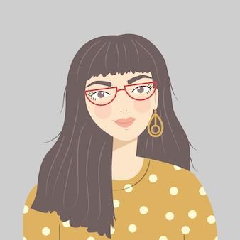 Portrait d'une jeune fille brune