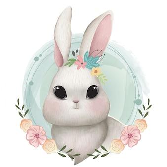 Portrait de lapin mignon