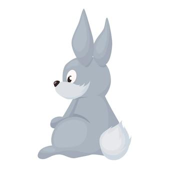 Portrait de lapin rouge regardant de face sur illustration vectorielle fond blanc. animal domestique mignon de pâques. bébé lapin moelleux