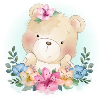 Portrait mignon petit ours