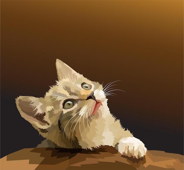 Portrait de pop art chat imprimé animal