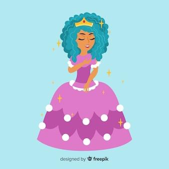 Portrait de princesse à plat