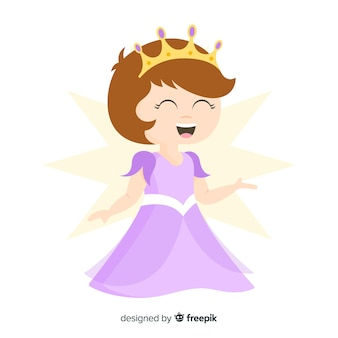 Portrait de princesse souriante