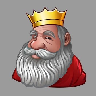 Portrait de roi avec couronne