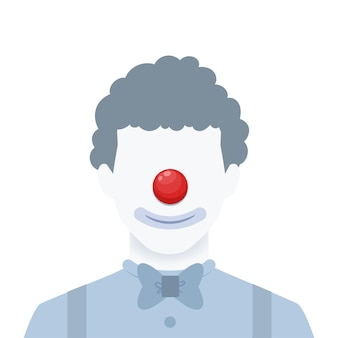 Un portrait sans visage d'un clown. illustration vectorielle isolée
