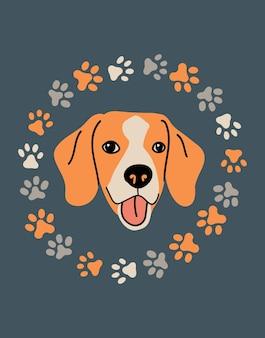 Portrait de vecteur de beagle