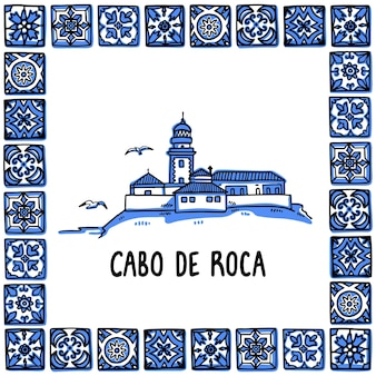 Portugal illustration historique phare de cabo de roca